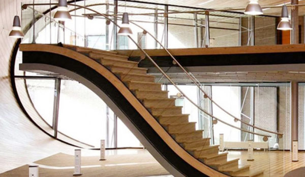 Stunning Staircase Rail With A Modern Design With Stainless Steel pertaining to Modern Steel Railing pertaining to Really encourage - Gud Stairs